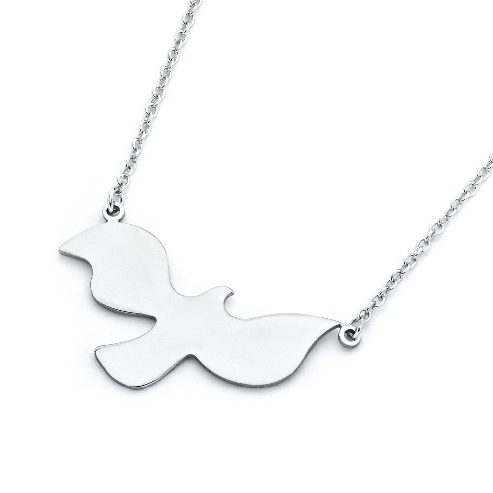 "Sterling Silver ""Dove"" Necklace - Click Image to Close"